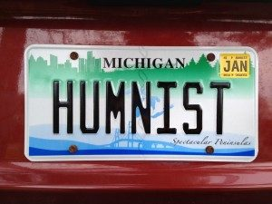 Humanist License Plate