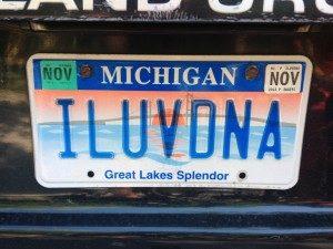 ILUVDNA License Plate