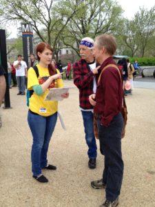 Helpful Reason Rally volunteer
